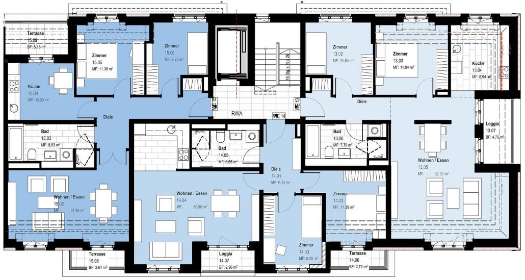 Haus A – Grundriss Dachgeschoss