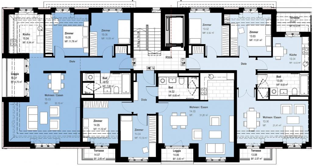 Haus C – Grundriss Dachgeschoss